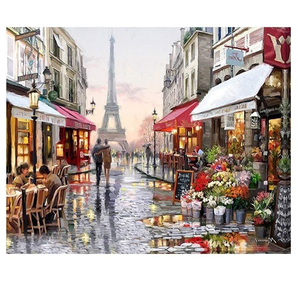 Full Square&Round Diamond Painting Paris street view  5D Diamond Embroidery Mosaic Cross Stitch Home Decor Gift