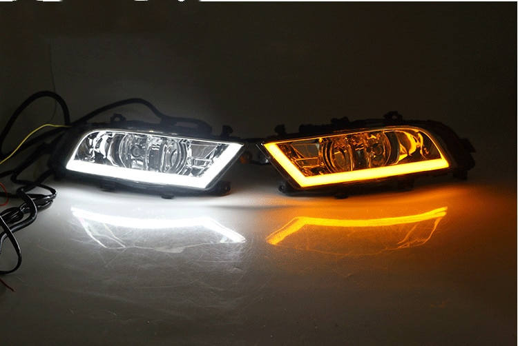 RQXR LED مصباح الضباب النهار تشغيل الضوء مع بدوره إشارة لسكودا سوبيرب 2013-2015