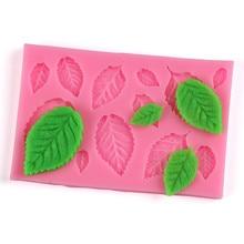 1Pcs Sugarcraft Rose Flowers Leaves Silicone Mold Fondant Cake Form Chocolate Mold Soap Mould Wedding Cake Decorating Tools