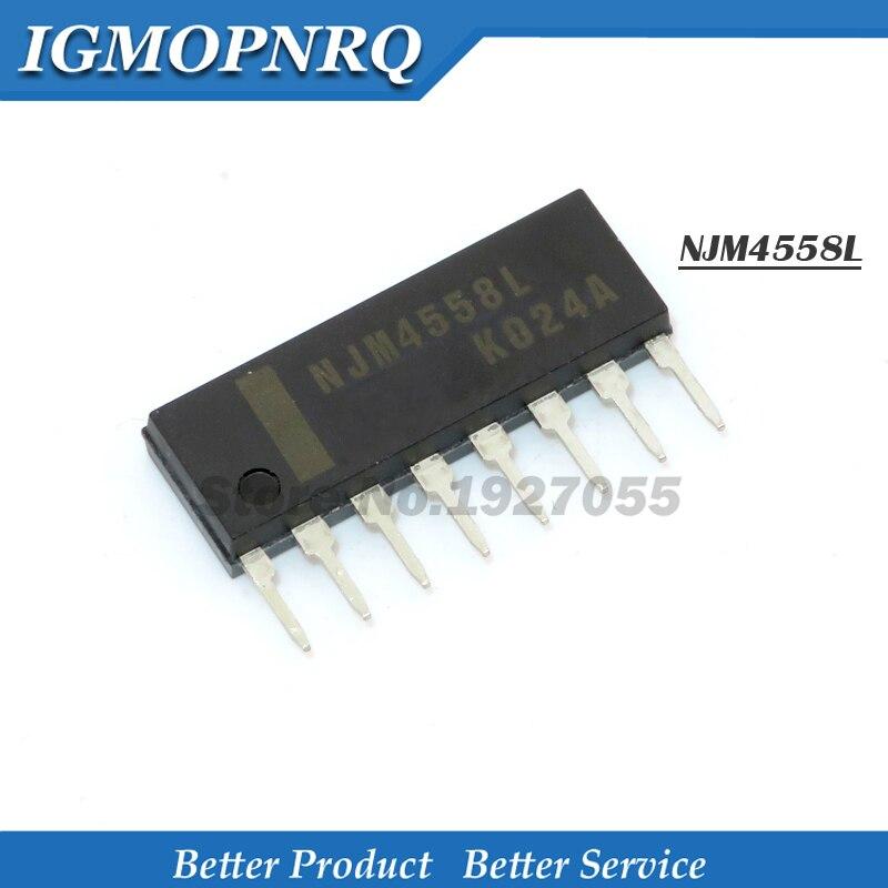 10 unids/lote NJM4558L 4558l SIP8 Njm4558 SIP Dual amplificador operacional nuevo