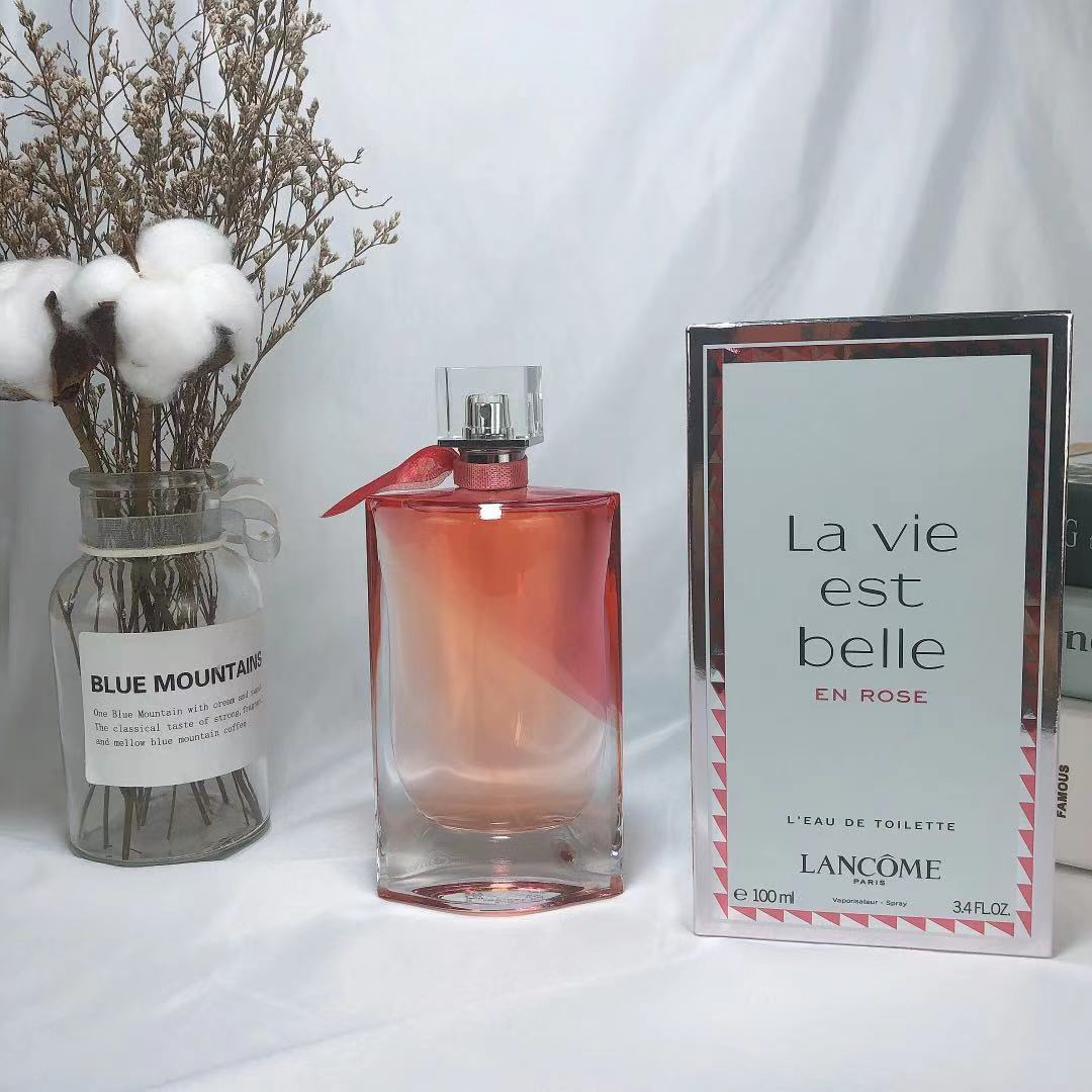 Beautiful Life Rose Perfume Pink Bottle perfume paco rabanne