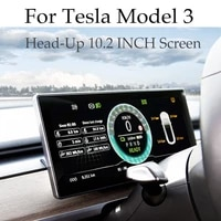 for tesla model 3 s y head up 10 2 inch screen full lcd digital display dashboard decoration hud accessories original car data