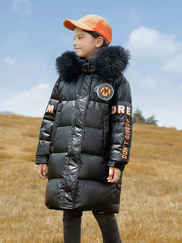 New Warm Kids Winter Parka Outerwear Teenager Outfit 8 10 Years Girls Baby Down Coat   -30 Russia Children Clothing enlarge