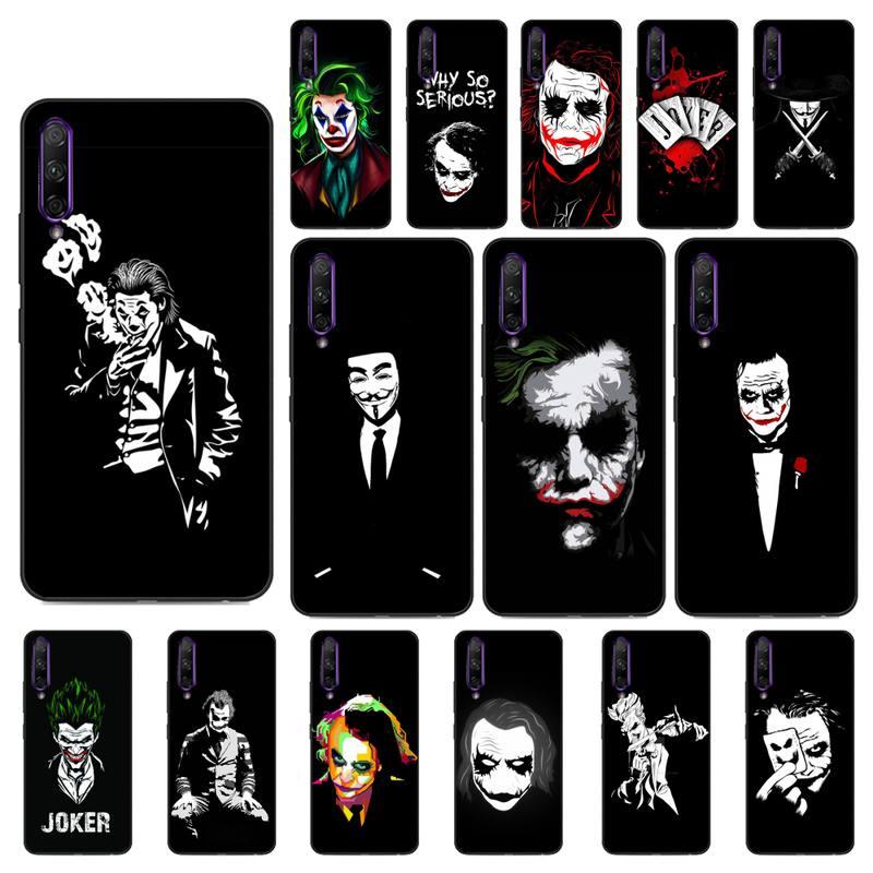 YNDFCNB schwarz weiß joker Telefon Fall für Huawei Y5 II Y6 II Y5 Y6 Y7 Prime Y7Plus Y9 2018 2019