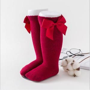 New baby  tube socks big bow socks boneless hand stitching 0-7 years old kids children socks
