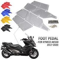 new motorcycle floorboards foot pegs pedal front and rear footrest footboard step for kymco ak550 kymco ak 550 2017 2020