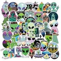 50pcs e t ufo alien sticker cosmic space creature astronaut cartoons stickers for fridge skateboard bicycle motorcycle car