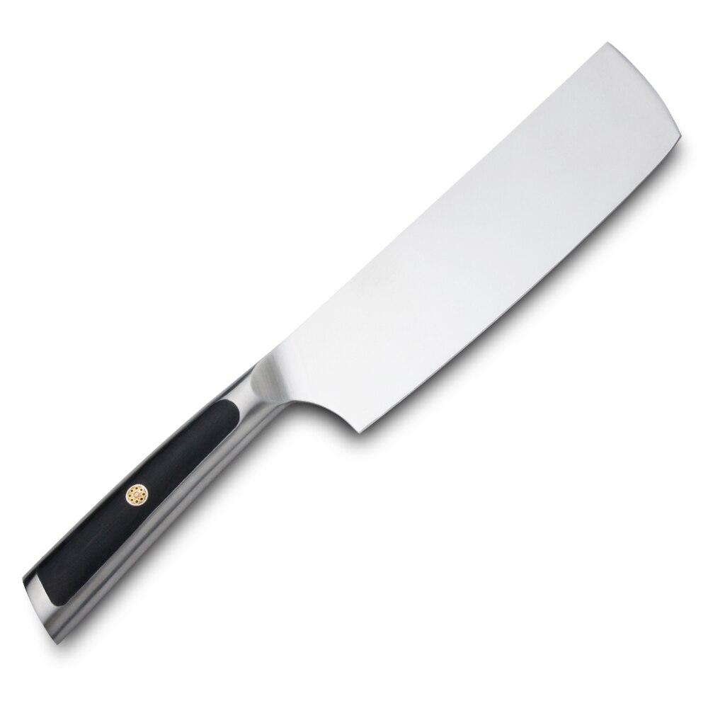 Sunnecko-سكين مطبخ ألماني, سكين ناكيري 7 بوصة شفرة فولاذية 1.4116 شفرة حادة G10 مقبض رملي غير قابل للانزلاق سكاكين المطبخ قطع اللحوم الخضار