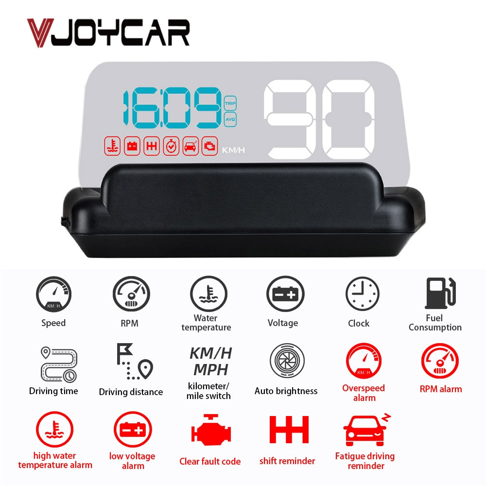 2020 Newest OBD2 HUD Gadget Mirror M42 Car Head Up Display Digital Speedometer Security Alarm Water