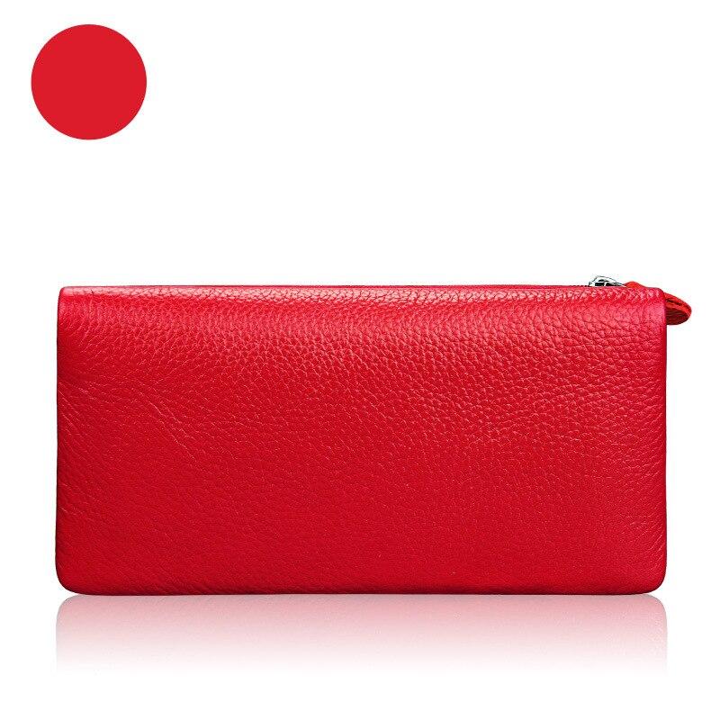 محفظة جديدة رائعة عالية الجودة لون الحلوى سستة محفظة للسيدات مخلب الجلود