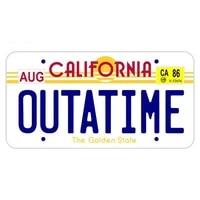 cartoons car sticker california passport outatime car styling vinyl motorcycl decals cover scratches waterproof pvc 13cm x 7cm