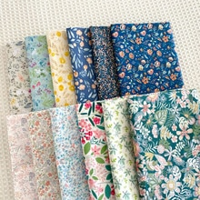Flower Plant Series Cotton Twill Printed Fabric DIY Sewing Dress making Bed Sheet Fabric