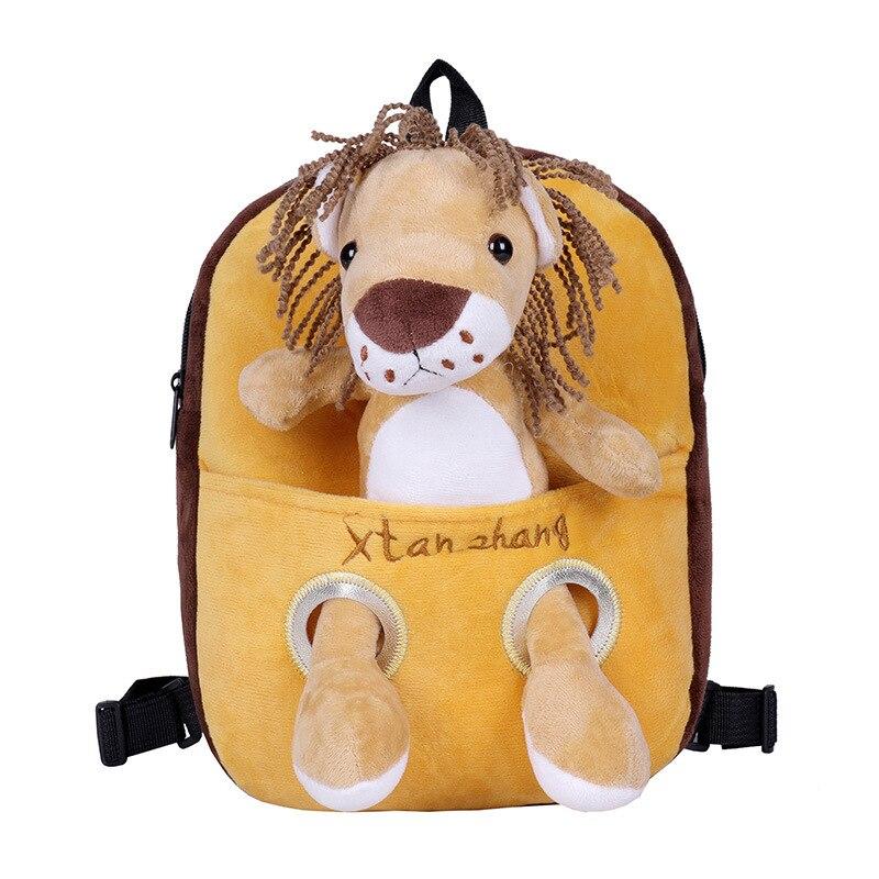 Animais de Pelúcia Mochila dos Desenhos Bolsa de Escola Boneca de Pelúcia Brinquedos do Bebê Animados Tigre Girafa Criança Destacável Macio Crianças Aniversário Presente Natal