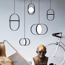 Moderne ligne pendentif lumières concepteur salle à manger chambre chevet Restaurant arqué salon anneau suspendus lampes luminaire décor
