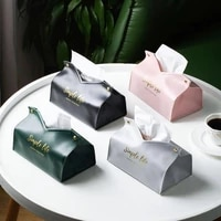 pu leather tissue box napkin holder case kitchen living room car paper holder storage container case home table decoration