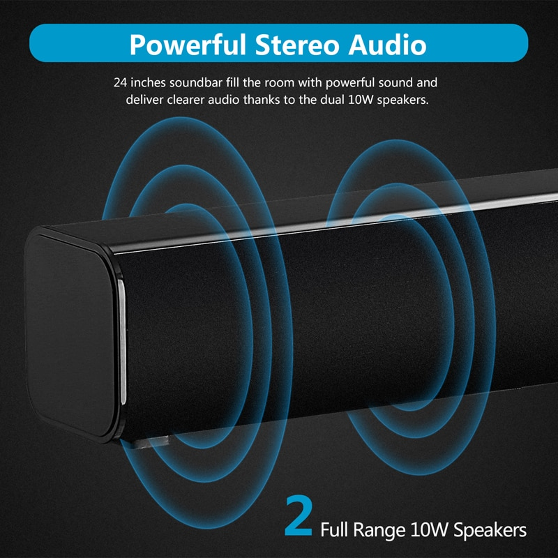 Soundbar Tv Home Theater with Subwoofer Wireless Bluetooth Speakers Remote Control 3D Surround Stereo Deep Bass Optical RCA AUX enlarge