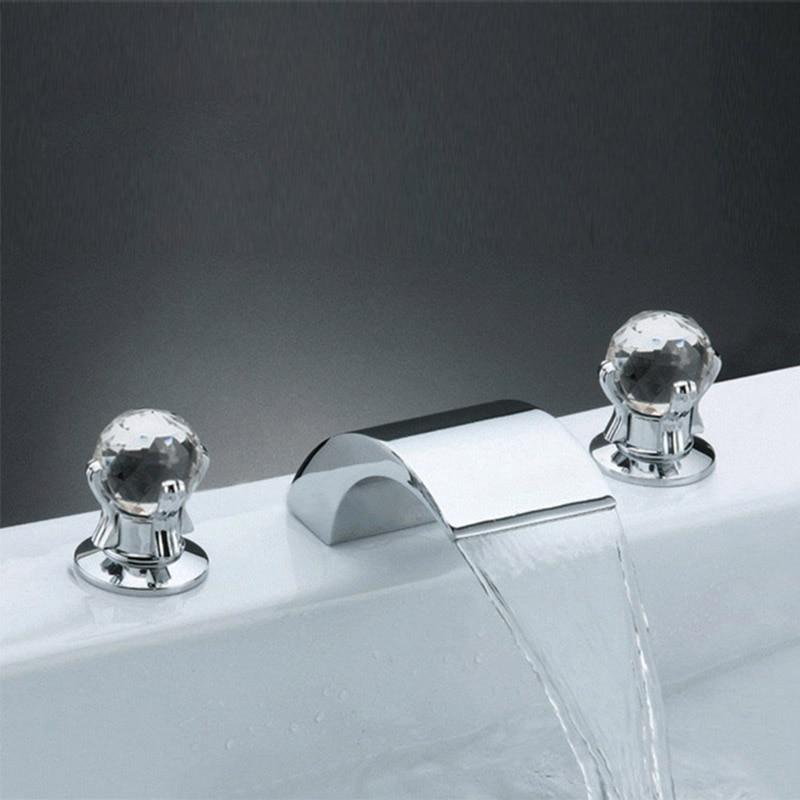صنبور حوض استحمام شلال من النوع المنفصل ، خلاط مياه ساخنة وباردة ، ملحقات الحمام