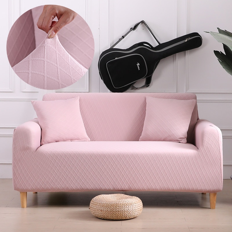 Estiramento de cor sólida slipcovers sofá capa para sala de estar deslizamento-resistente secional elástico high-end sofá capa toalha