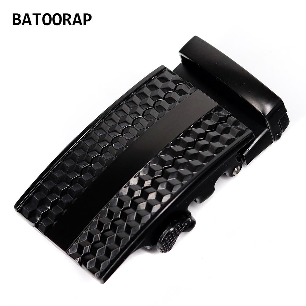 Fashion Black Belt Automatic Buckle For Men Metal Brand 40mm Durable Fits In 3.5 CM Ratchet Belts