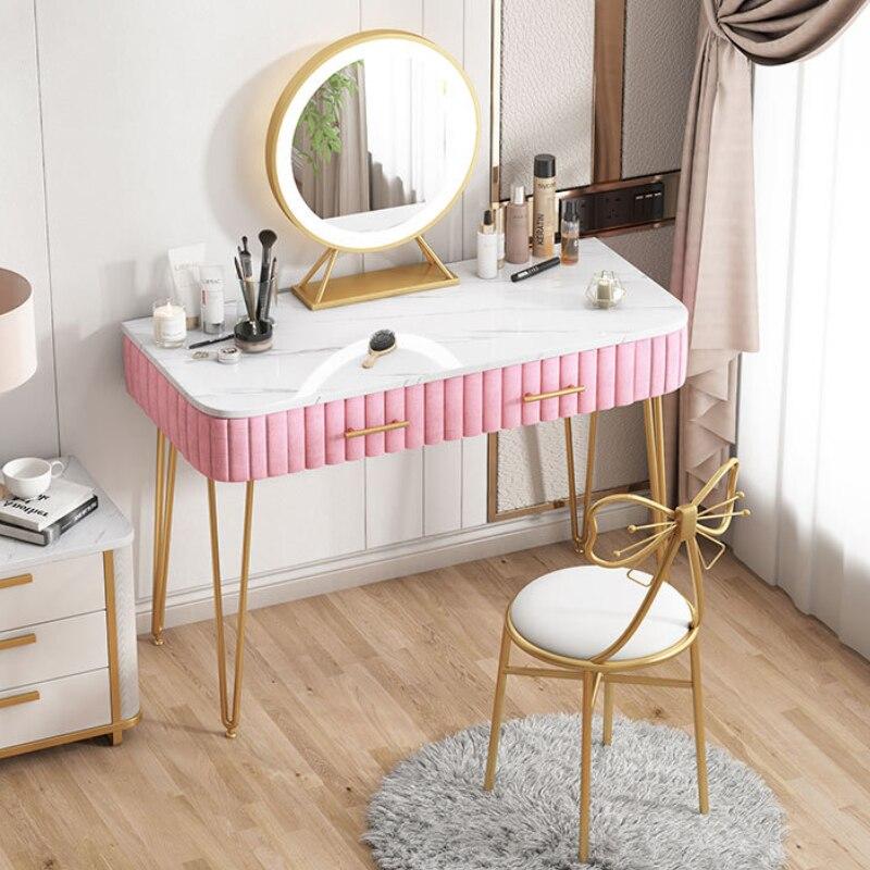 Новый туалетный столик для макияжа с зеркалом, роскошный современный туалетный столик для спальни, туалетный столик, туалетный столик