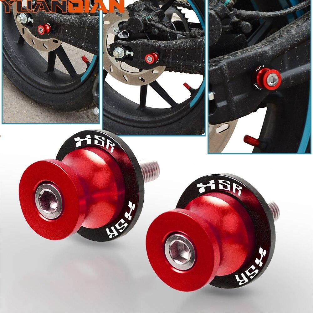 Acessórios da motocicleta swingarm carretéis slider suporte parafusos para yamaha xsr155 xsr700 xsr900 mt07 mt09 xsr 155 700 900 mt 07 09