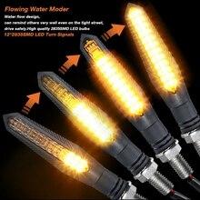 4 pz/set moto LED indicatori di direzione sequenziale acqua che scorre lampeggiante lampeggiatore lampada per Honda Kawasaki moto indicatore