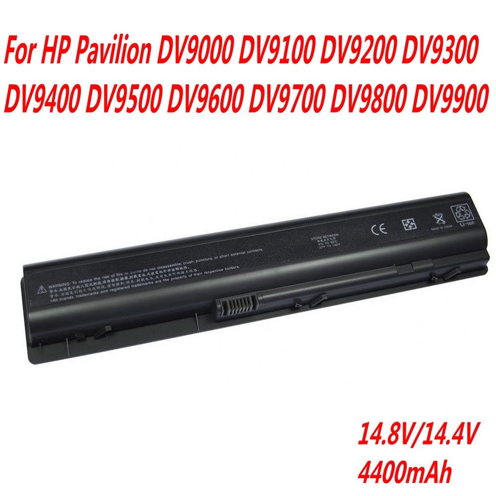 Высокое качество 14,4 V 4400mAh аккумулятор для ноутбука HP Pavilion dv9000 dv9100 dv9200 dv9300 dv9400 dv9500 dv9600 dv9700 dv9800 dv9900 Аккумуляторы для ноутбуков      АлиЭкспресс