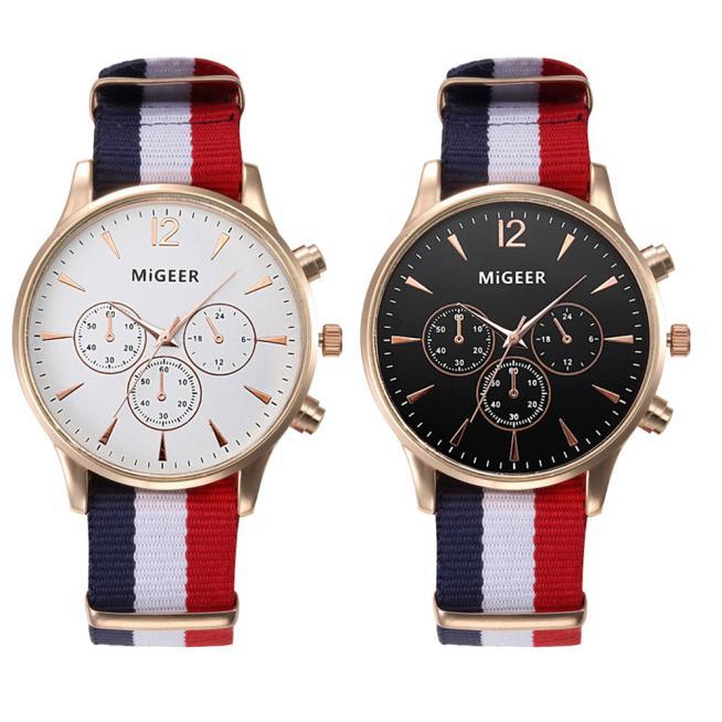 aliexpress.com - MIGEER Fashion Casual Men Watches Fabric Band Watches Quartz Wristwatches relogio masculino horloge vrouw mannen horloge 2019