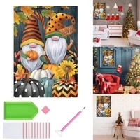 diamond painting kit diy full round drill diamond art gnomes pumpkins painting crafts for home wall room decor art accessories