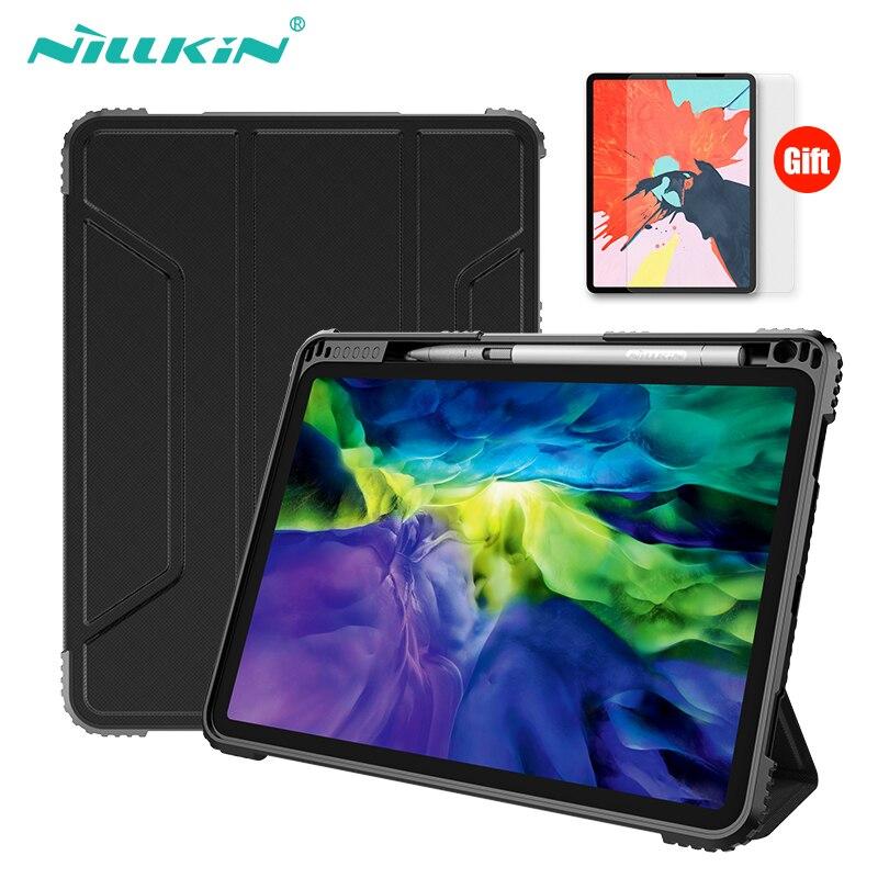 NILLKIN For iPad Pro 11 Case 2018 2020 المغناطيسي السيارات النوم/ويك حامل حافظة PU جلدية للصدمات حافظة لجهاز iPad Pro 12.9