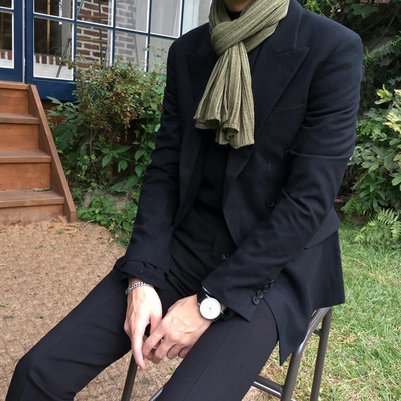 Blazer de manga larga para hombre, chaqueta masculina de moda coreana, informal,...