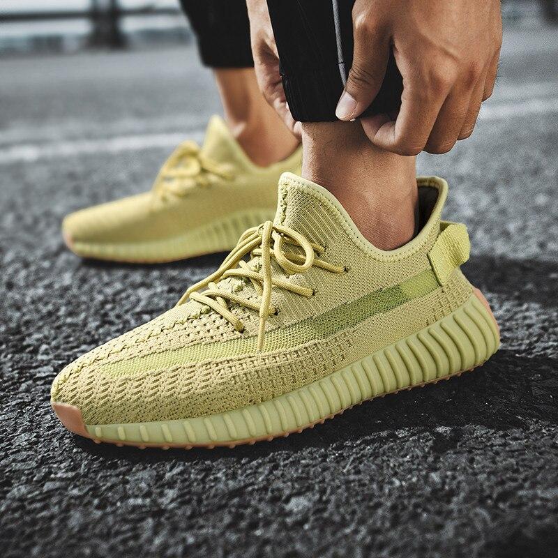 Кроссовки унисекс летающие плетеные спортивные кроссовки на шнуровке дышащая обувь для бега кроссовки для отдыха на открытом воздухе крутые отражающие