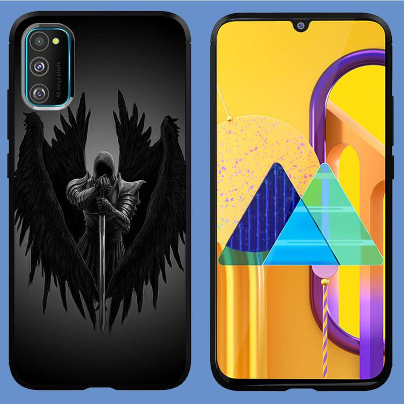 Angel demon wings Phone Case for Samsung s21 ultra S6 S7 edge s8 s9 s10 S20 plus lite S10E note 10 20 pro coque