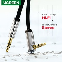 Ugreen 3.5mm Audio Cable Aux Hi-Fi Stereo Male to Male 90 Degree 3.5 mm Jack Speaker Cable for JBL C