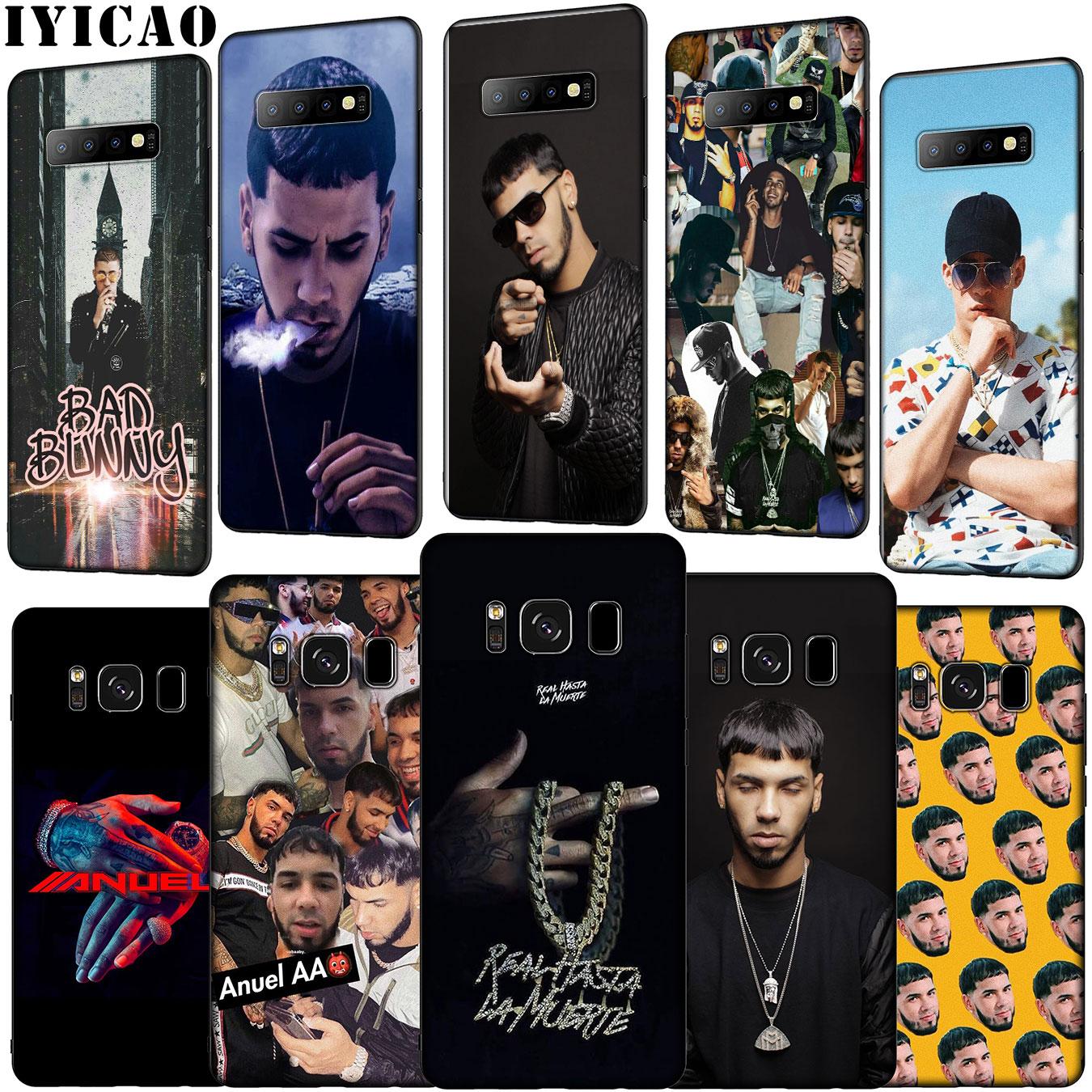 IYICAO Anuel AA conejito malo de silicona suave caso de teléfono para Samsung Galaxy S20 Ultra S10 Lite S9 S8 más S6 S7 borde S10e cubierta