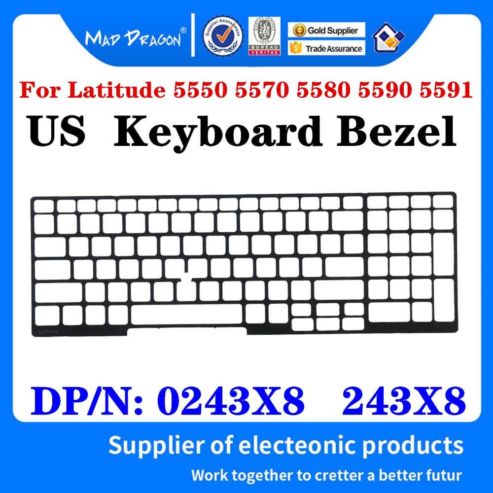 Neue original US Tastatur grenze Lünette Kunststoff Tastatur Trim Gitter Für Dell Latitude E5550 E5570 E5580 E5590 E5591 0243X8 243X8