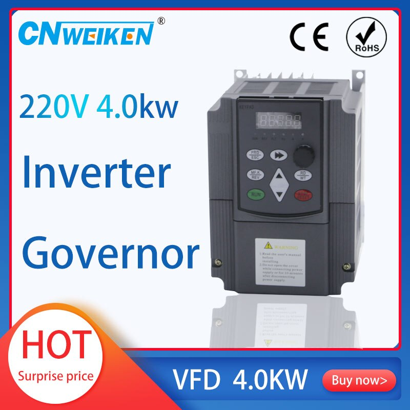 7.5KW/5.5KW 220V AC 1 Phase Input 3 Phase Output Frequency Converter VFD Frequency Inverter Motor Speed Controller 50/60Hz