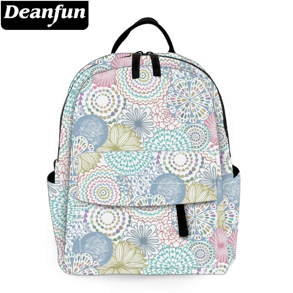 Deanfun Mini Backpack Mandala Flowers Waterproof Backpack for Women Shoulder Bag Kids Backpack MNSB-11