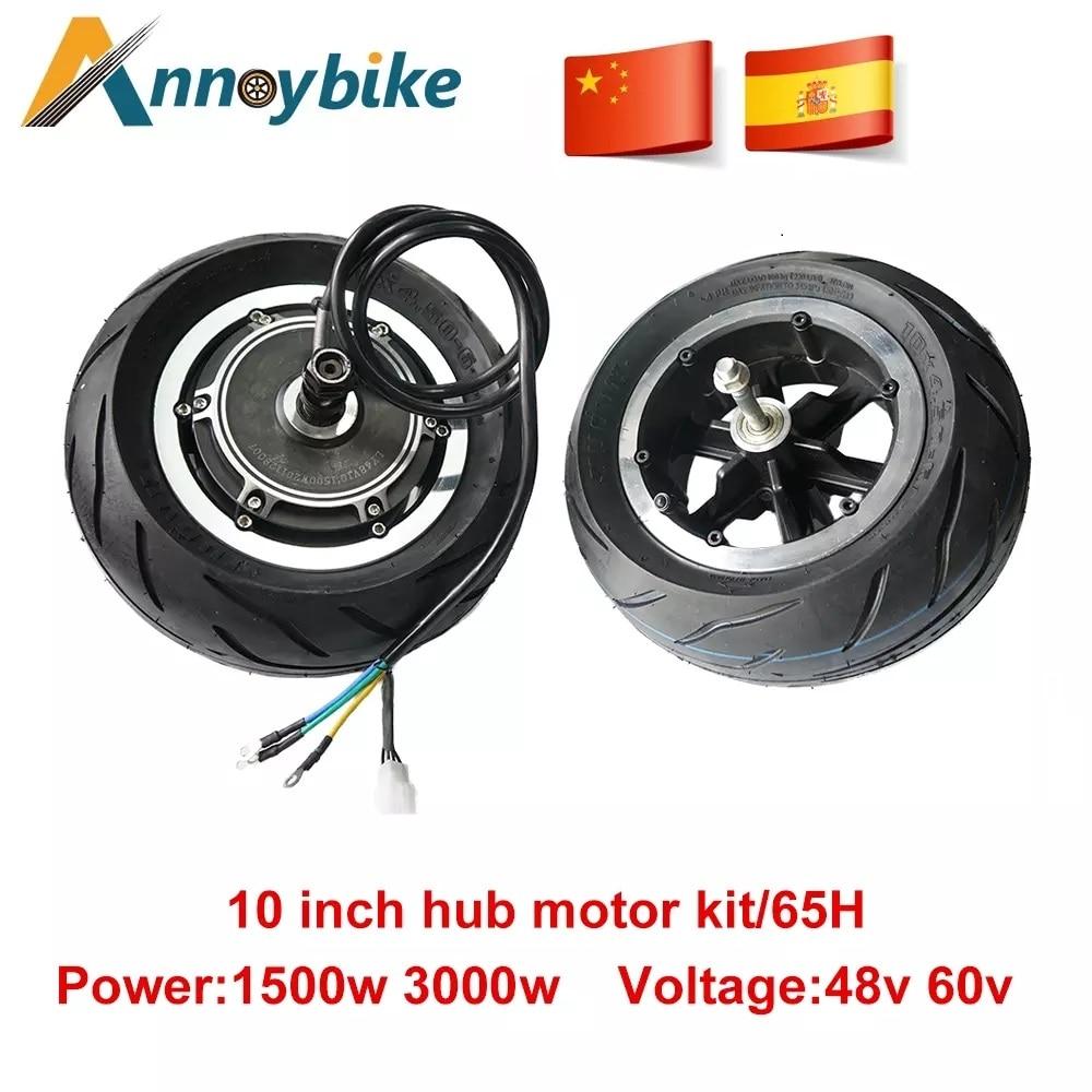 Kit de Motor de cubo de 10 pulgadas, 48V, 1500w, 60V3000W, rueda...