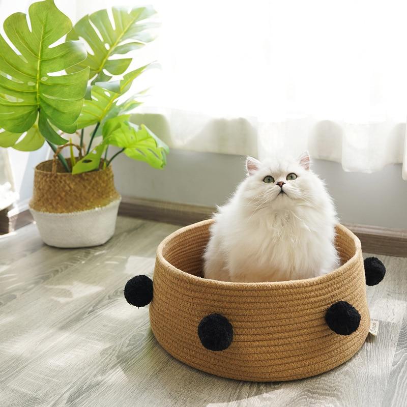 Nido de gato cuatro estaciones Universal en línea celebridad gato cama gato Casa de gato Villa perros pequeños perrera suministros para mascotas