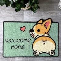 welcome entrance doormat pvc dirt resistant absorbent non slip carpet cartoon floor mats for home creative animals nordic rug