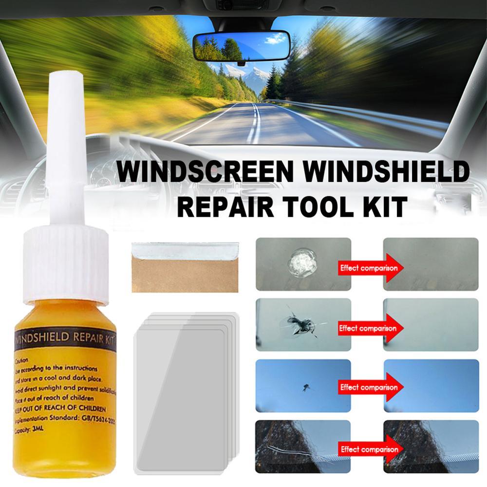 2 предмета автомобильные Стекло нано ремонт жидкость для окна автомобиля Стекло трещины чип набор инструментов для ремонта автомобиля аксе...