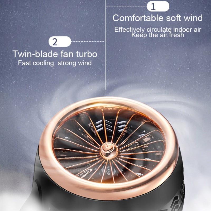 Ventilador USB 2020 Mini ventilador creativo ventilador de doble hoja ventilador USB interfaz alimentado ventilador Personal para el hogar, la Oficina, al aire libre y viajes