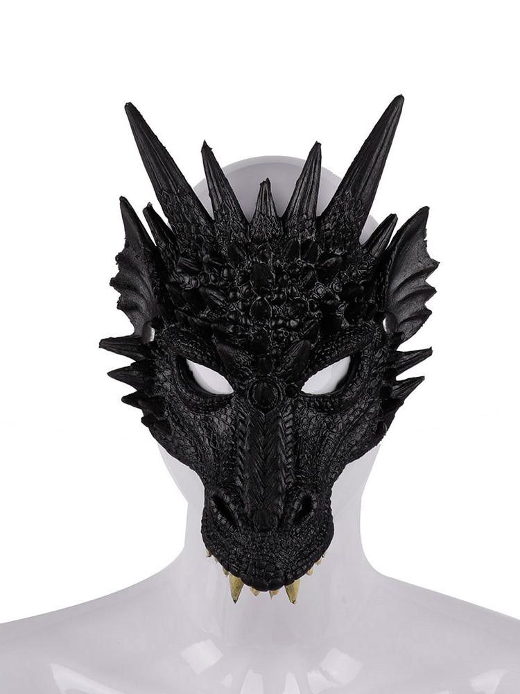 Фото - 2021 Hot Sale Mardi Gras Halloween Carnival Party  Chinese Dragon Animal Dragon Mask Cosplay Dragon Scary Mask natalie yacobson swan and dragon dragon empire