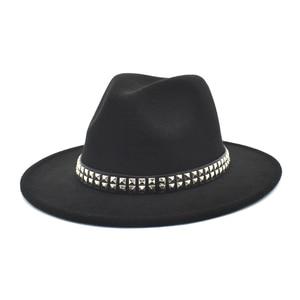 FUODRAO New Fashion Classic Fedora Hats Women Wool Felt Panama Wide Brim Jazz Cap British Travel Cowboy Hat Dropshipping F157