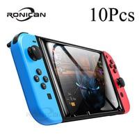Защитное стекло для Nintendo Switch, 10 упаковок, закаленное стекло, Защита экрана для Nintendos Switch NS, стеклянные аксессуары, пленка для экрана