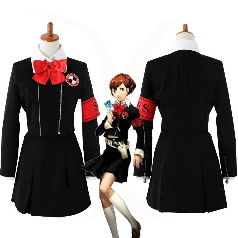 Persona 3 Shin Megami Tensei Persona 3 Mitsuru Kirijo Chihiro Fushimi mujer la escuela Cosplay traje uniforme conjunto completo