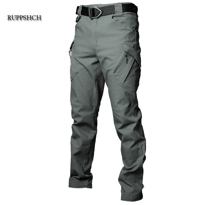 Tactical Pants Men Cotton Multi-Pocket Stretch Military Outdoor Casual Pants Men Waterproof and Wind