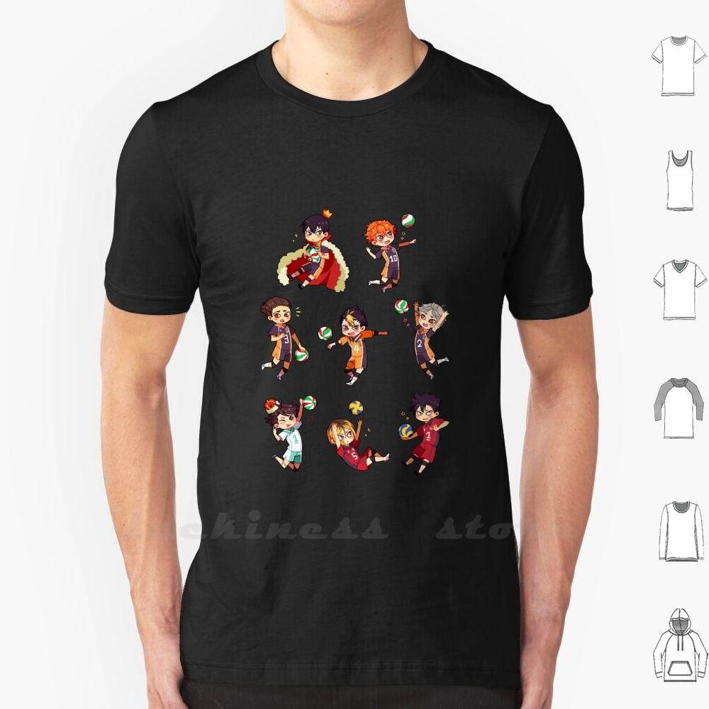 ¡Tee! Camiseta de algodón para hombres y mujeres, Haikyu Hinata Kageyama Oikawa Kuroo Kenma Sugawara Nishinoya