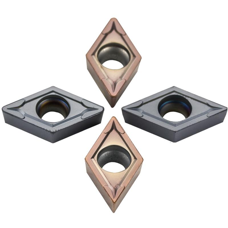 10pcs DCMT11 Carbide Insert DCMT11T304 DCMT11T308 External Turning Tool Diamond DCMT CNC Blade Cutter Lathe For SDJCR/L